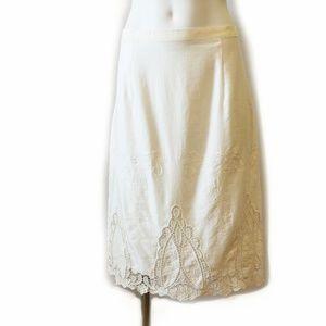Beautiful Cream Lightweight Rachel Roy Skirt